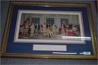 Framed Litho Of Independence Resolved July 2, 1776