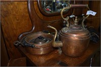 English Copper Kettle And Pans