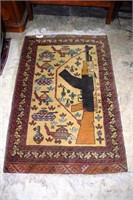"""48""""X32"""" Hand Knotted Wool Estate Carpet Arms & Arm"""