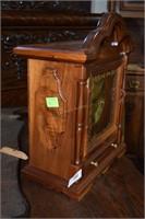Custom Wood Cased Mantle Clock.