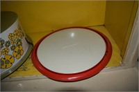 2 Tin Litho Cake Plates W/Covers