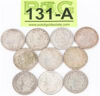 Coin 10 Morgan Silver Dollars 1921-P & S