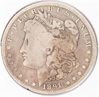 Coin 1891-CC  Morgan Silver Dollar in Good