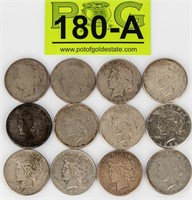 Coin 12 Peace  Silver Dollars