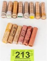 Coin 14 Rolls Brilliant Unc. Lincoln Wheat Cents