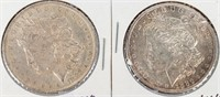 Coin 2 Morgan Silver Dollars 1883-O & 1886