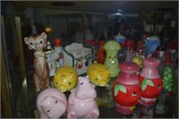 Large Collection Vintage Character Salt And Pepper