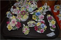 14 Capodimonte Style Floral Figurines Some Royal D