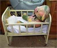 Vintage Amsco Doll/E/ Crib