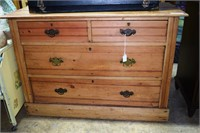 "Pine 4 Drawer Dresser With Split Top 42"" W X 19 D"