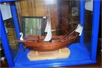 Model Ship In Case Model Of Corbita Imperial Merch