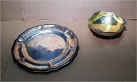 Sterling Silver Plate (207G), 800 Sm Bowl (105G)