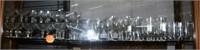 95+Pcs Hand Etched Rose Pattern Crystal Stemware