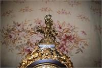 Versailles Brass Embellished Hunt Scene Clock With