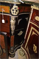 Ornate Bow Front French Style Liquor Cabinet With