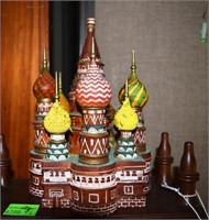 Pair Of Russian Hp Wooden Architectural Replicas