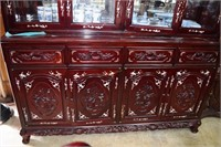 Beautiful 4 Door Beveled Glass Lighted Rosewood Ch