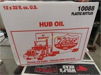 case of Lucas Oil Products Hub oil 12 plastic