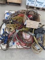 Port of air hoses, extension Cords, drop light,