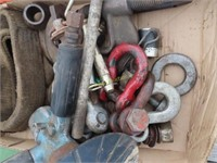 air grinder, clevis's, hitch pins, aerosol cans