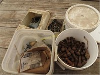 bucket of bolts and nuts and miscellaneous