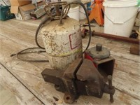 large vise, air tank and miscellaneous