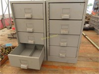 two parts cabinets with pull-out drawers