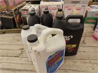 motor oil, power steering fluid, brake fluid, RV