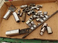 S&K socket set missing a few and miscellaneous