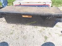 black aluminum Delta Pro truck tool box