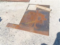 several pieces of welding steel, Matt's and