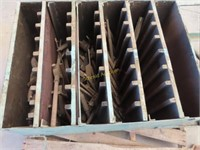 Parts storage bin with Milling tools