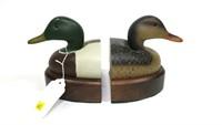 L.L. Bean Mallard duck hen and drake bookends
