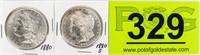 Coin 2 Morgan Silver Dollars 1880 & 1880-S BU