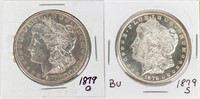Coin 2 Morgan Silver Dollars 1879-O & 1879-S BU