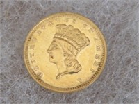 GOLD: 1862 $1.OO TYPE III GOLD COIN