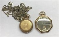 2 14k gold pocket watches.