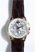 Universal Geneve Tri-Compax 18k gold chronograph.