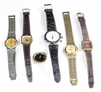 6 Gucci wristwatches.