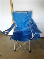 Blue Collapsing Chair W/ Carry Case