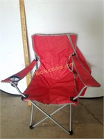 Red Collapsing Chair W/ Carry Case