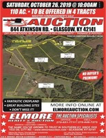 110 AC. - 4 TRACTS - MASTER COMMISSIONER'S SALE