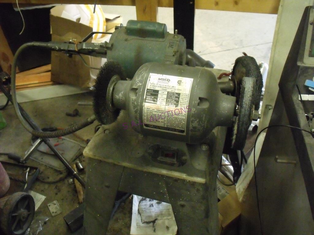 Astonishing Amsco Power 6 Bench Grinder S A L Auctions Bralicious Painted Fabric Chair Ideas Braliciousco