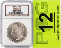 Coin 1881-S Morgan Silver Dollar NGC MS64