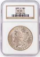 Coin 1899-O Morgan Silver Dollar NGC MS63