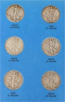 Coin Walking Liberty Complete Set 1937-1947