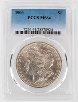 Coin 1900 Morgan Silver Dollar PCGS MS64