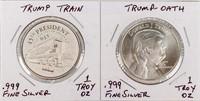 Coin 2 Donald Trump Silver Rounds 1oz Each