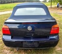 2001 Convertible Volkswagen Cabrio