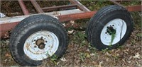 Double Axle Metal Trailer